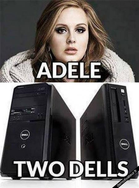 Adele, two dells