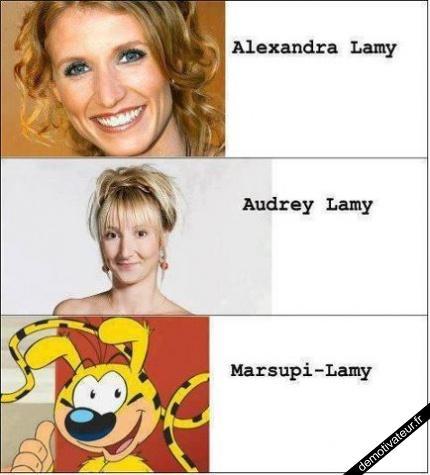Alexandra, Audrey, Marsupi Lamy