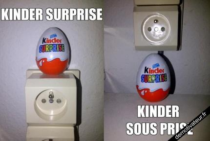 Kinder surprise, Kinder sous prise