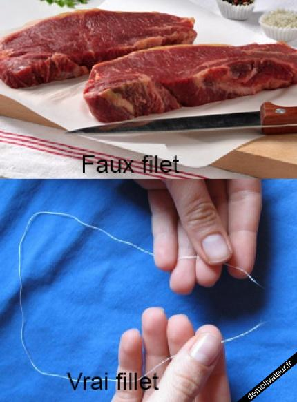 Faux filet, vrai filet